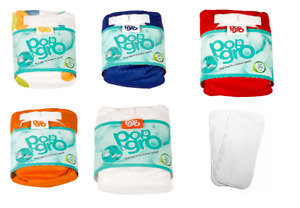 10 x pocket reusable nappies (7-20lbs) MIXED COLOURS (GREAT VALUE)