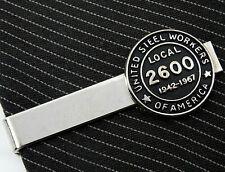 USWA United Steel Workers of America Local 2600 1967 Vintage Tie Clip Bethlehem