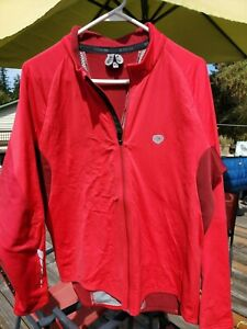 PEARL IZUMI Select Mens XL Thermal Full Zip cycling Jacket Red Fleece Lined
