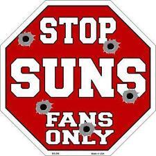 NBA Basketball Phoenix Suns Metal Stop Sign ManCave Garage Barn Game Room BS-266