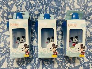 👼🏻NIB Set Of 3 Disney Baby Mickey Mouse 8oz Spill proof cup, 6 mos +