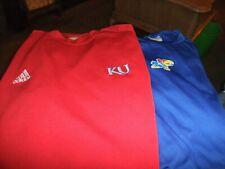 Adidas Kansas Jayhawks NCAA ClimaCool Lot of 2 Shirts Men's Size L (KU4U)