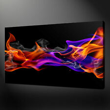 ABSTRACT COLOURFUL FLAMES CANVAS WALL ART PICTURES PRINTS 20 x 16 Inch WALL ART