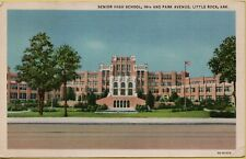 Vtg Senior High School 14th & Park Avenue Little Rock Arkansas Ar 1935 Postcard