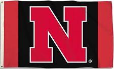 Nebraska Cornhuskers 3' x 5' Flag (Logo Only on Red & Black) Ncaa Licensed
