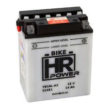 Motorradbatterie 12V 14Ah 51411 YB14L-A2 CB14L-A2 inkl. Säurepack *NEU*