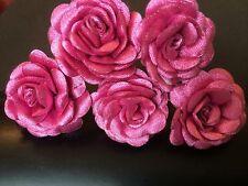 6 SPOSA DUSTY PINK ROSE fiore per capelli Pin Clip Grip handmade