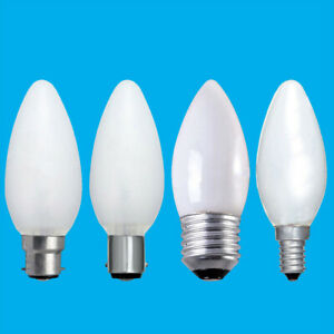 10x Opal Candle Dimmable Standard Light Bulbs 25W 40W 60W BC ES SBC SES Lamps