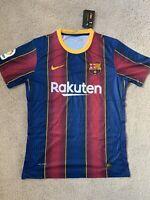 2020-2021 Barcelona Vaporknit Match Home Jersey Size Large