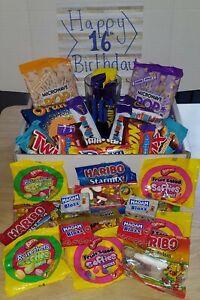 Ladies happy birthday 16th 18th 21st 30th 40th 50th sweets gift hamper box jelly