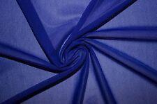 Cobalt Power Mesh 4 Way Stretch Nylon Lycra Spandex Dance Swimwear Fabric BTY