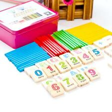 Wooden Blocks Numbers Mathematics Tools Kids Early Learning Counting Toys