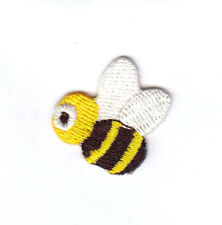 BEES Small Yellow White & Black Iron On Embroidered Patch