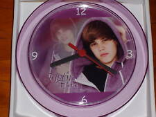 JUSTIN BIEBER Novelty Wall Clock BRAND NEW **L@@K** 17.5cm