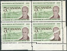 CANADA #397 VAR. BLOCK OF 4 WITH PRE-PRINT PAPER FOLD ERROR BP3780