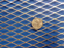 "Expanded Metal Sheet Diamond Pattern .036"" x 12"" x 48"" ->1/2""-#20 Expanded Steel"
