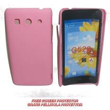 Pellicola+custodia BACK COVER RIGIDA ROSA per Huawei Ascend G525 G520 (C2)