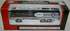 OAKLAND RAIDERS 2002 MOTOR COACH BUS Metal Die Cast 1:64 Scale COLLECTIBLE