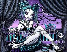 Gothic Fairy Couture Tea Party Rag Doll 11x14 Myka Jelina Art PRINT Makayla