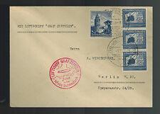 1938 Frankfurt Sudetenland Germany Graf Zeppelin II LZ 130 Cover to Berlin