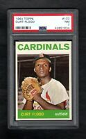 1964 TOPPS #103 CURT FLOOD CARDINALS PSA 7 NM++ WITH 8.0 QUALITIES!