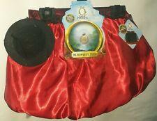 Girls Sz 4-6X Disney Great Powerful Oz Reversible Tutu Skirt Costume Black Red