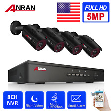 ANRAN 5.0MP CCTV Community Security Camera System Outdoor POE Set forHome Safety