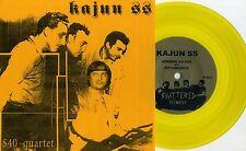 """Kajun SS - $ 40 Quartet 7"""" GOLD VINYL Reatards Persuadors Oblivians Spits Goner"""