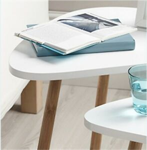 Nesting Tables: Set of Two (White) Use as a Coffee Table for