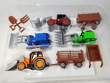 Farm Tractor Truck & Trailer Kids Toy Vehicle Set NEW