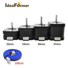 Nema 17 Hybrid 42 Step Motor 12V24V 26/34/40/48mm Height for 3D Printer Parts.
