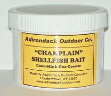 Adirondack Champlain Shellfish Bait 8 oz Raccoon mink, fox trapping traps snares