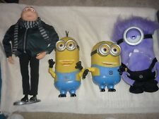 4 Dreamworks Despicable Me Thinkway Toys Interactive Figures Gru & Minions
