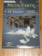 F-22 Raptor Metal Earth 3D Laser Cut Metal Model Airplane Fascinations