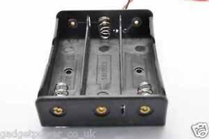 18650 LITHIUM BATTERY HOLDER WITH 15MM LEADS CLIP 3.6V 3.7V 4.2V TRIPLE THREE 3