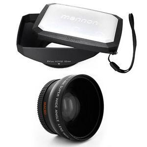 Wide Angle Lens + Macro,16:9 Hood for CANON VIXIA HF G20 G30,All 58mm camcorders