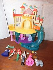 RARE Little Mermaid Magiclip Castle and Undersea playset figure toy Eric Flounde
