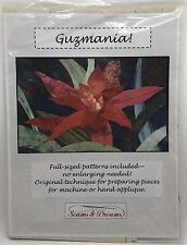 "Guzmania Applique Pattern 28"" x 42"" Quilted Wall-Hanging, Seams & Dreams (RF659)"