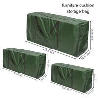 Waterproof Large Heavy Duty PU Cushion Storage Bag Patio Garden Furniture Cover