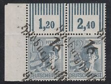 GERMANY, Soviet Zone, 1948. Bezirk Mi 170 Signed pair, Hildburghausen