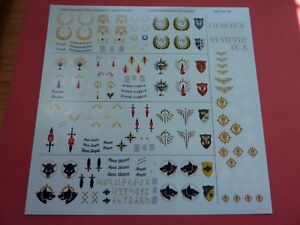 Space Marine Warhammer World Exclusive HQ Command Tanks TRANSFER SHEET