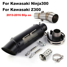 For 2013-2016 Kawasaki Ninja300 Z300 Full Exhaust System Mid Pipe Link Muffler