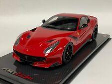 1/18 MR Collection Ferrari F12 TDF in Rosso Corsa Red on Carbon Fiber base