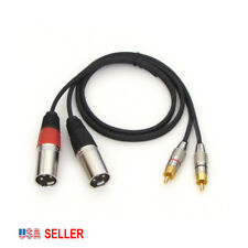 New listing Dual Xlr Male to Dual Rca Male, Heavy-duty Premium Cable, 2ft long, New