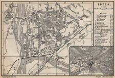 BOZEN BOLZANO town city stadtplan. Südtirol South Tyrol. Botzen. Italy 1899 map