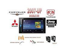 2007-UP DODGE JEEP CHRYSLER Touchscreen Bluetooth DVD USB AUX Stereo Combo Kit