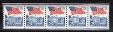 2609 - 29c Flag Over White House - PNC - Plate Number Coil Strip of 5 - #4