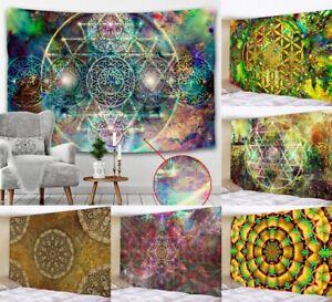 India Mandala Tapestry Wall Hanging Boho Decor Wall Cloth Carpet Tapestries