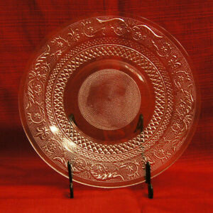 """Vintage - KIG MALAYSIA Pressed Glass - Clear Plate 10"""" Diameter - FREE SHIPPING"""