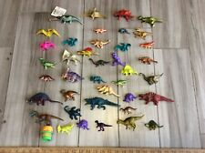 """Lot of 39 dinosaur plastic toy models, 2"""" to 8""""  long, + other animals used"""